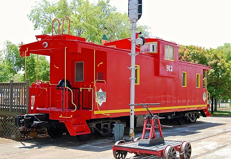 Caboose at Huntsville Railroad Depot Museum