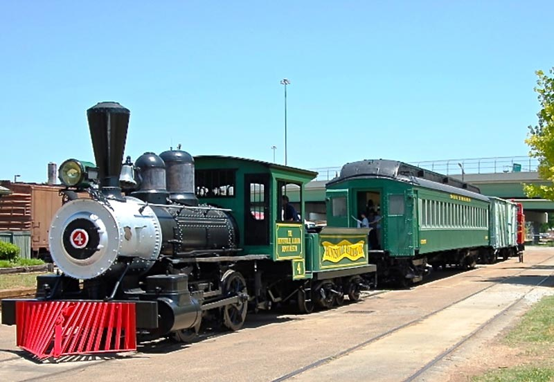 Train at Historic Huntsville Depot Museum